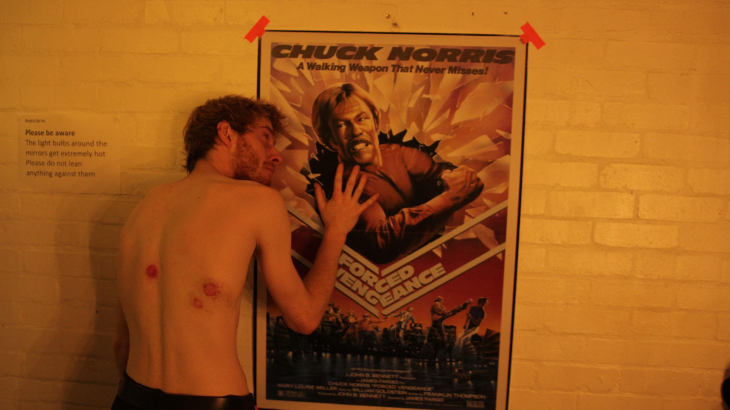 Pre Show Chuck Norris ritual