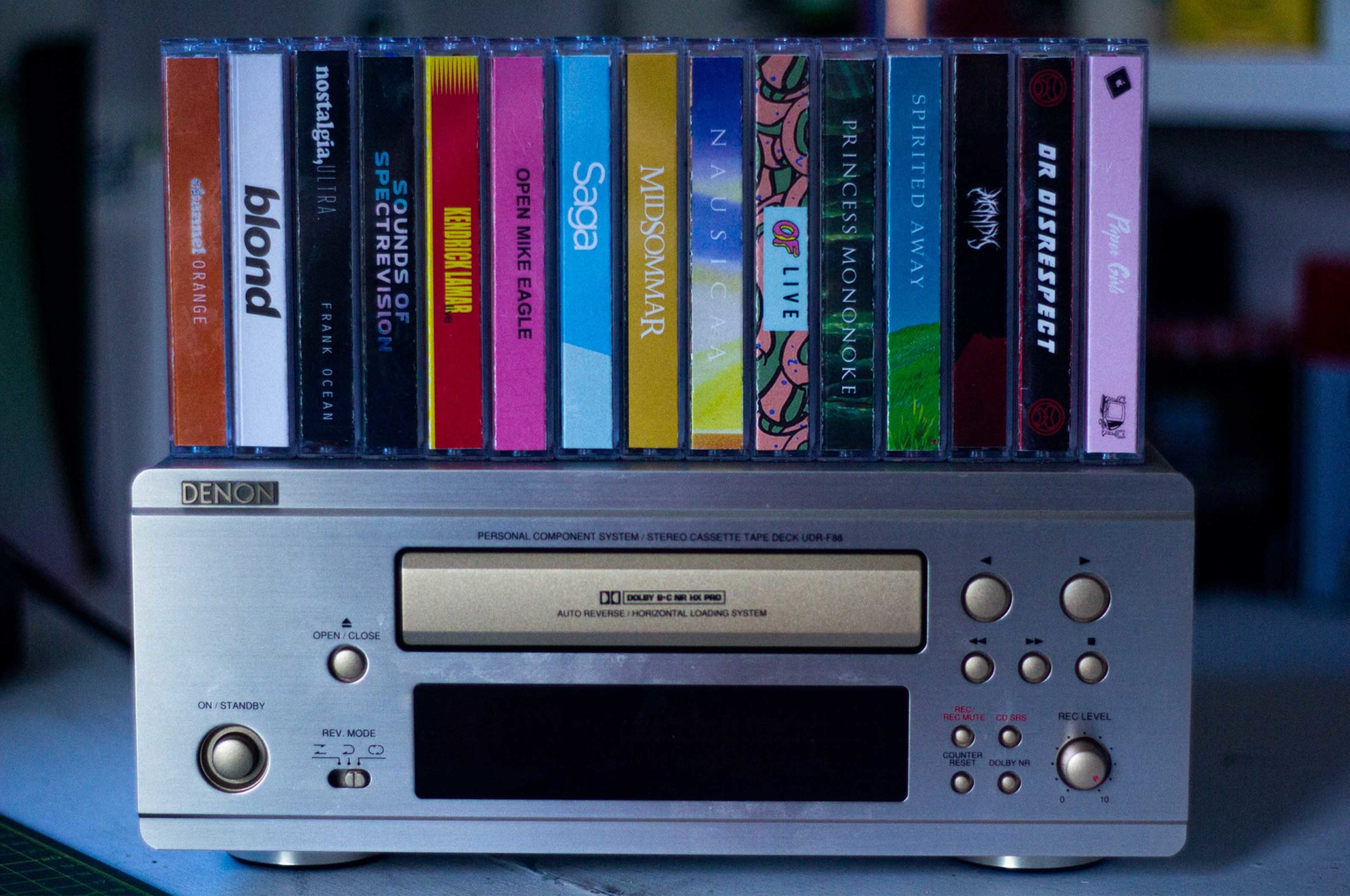 Somne of my collection with one of my cassette decks